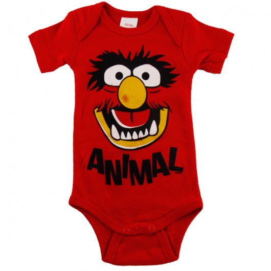 Muppets Animal Logoshirt baby romper rood