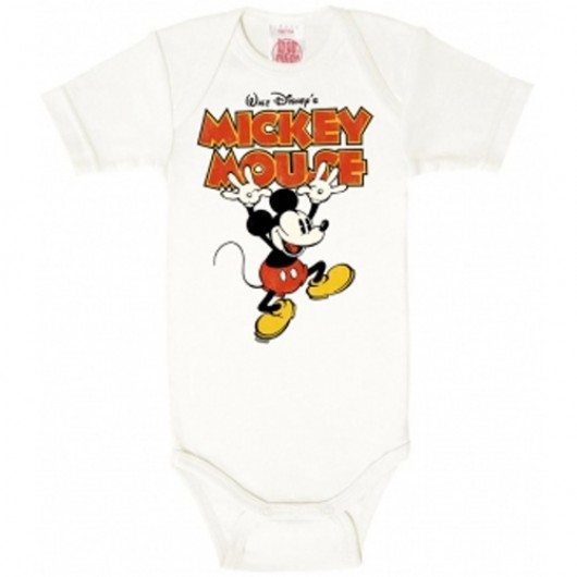 Disney Mickey hands up wit Logoshirt baby romper