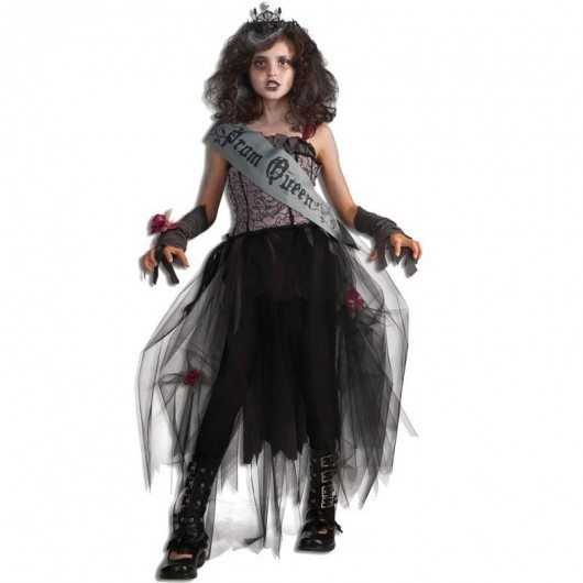 Gothic prom queen kostuum kind