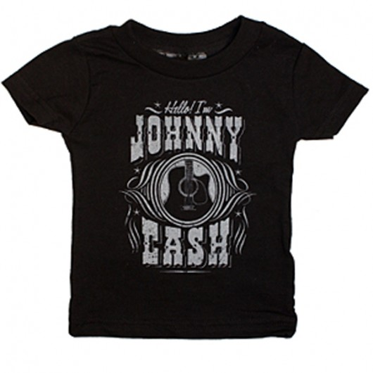 Johnny Cash Hello! I am baby t-shirt zwart
