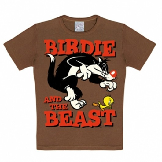 Looney Tunes Birdie and the Beast Logoshirt kinder t-shirt bruin
