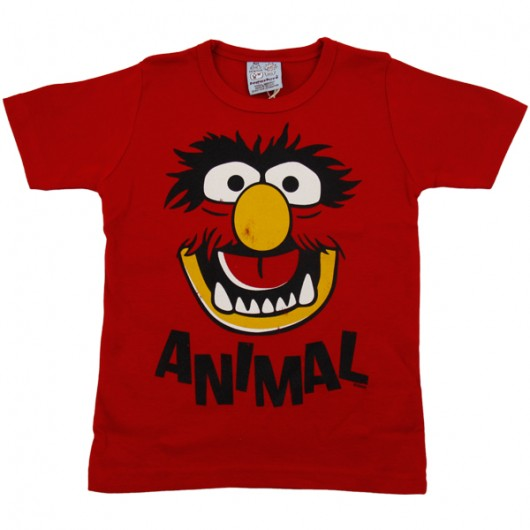 Muppets Animal Logoshirt kinder t-shirt rood