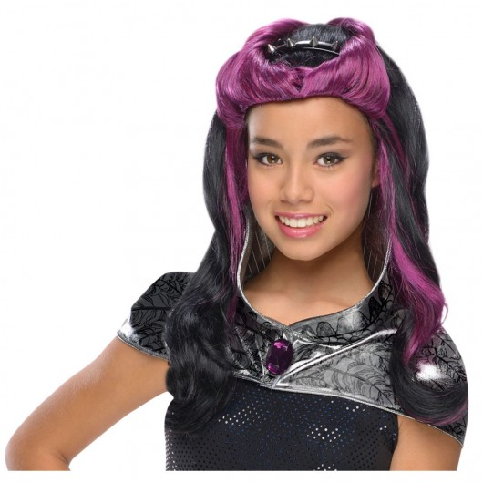 Raven Queen ever after High pruik kind