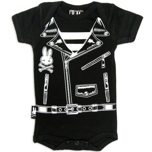 Rocker Six Bunnies baby romper