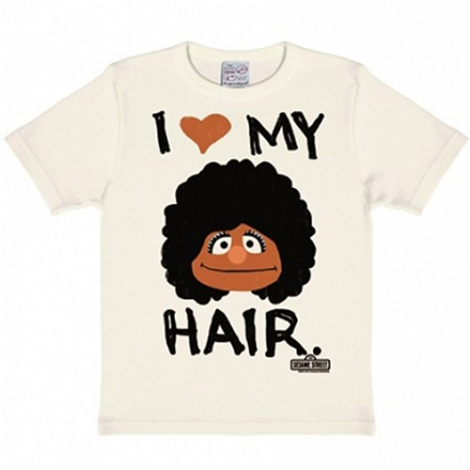 Sesamstraat Love My Hair kinder shirt wit