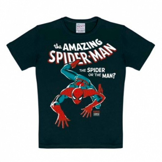SpiderMan Marvel Comics Logoshirt kinder t-shirt zwart