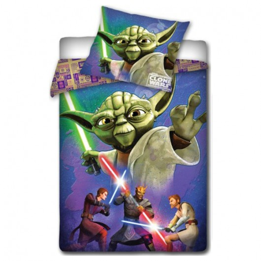 Star Wars Clone Wars Yoda kinder dekbedovertrek