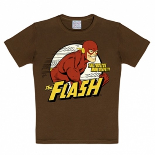Flash DC Comics Logoshirt kinder t-shirt bruin