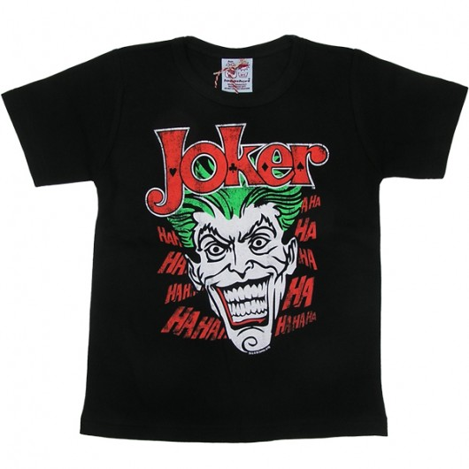 The Joker Logoshirt kinder t-shirt zwart