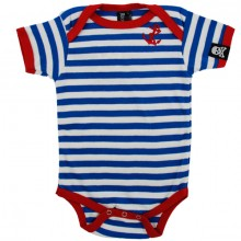 Anker baby rompertje blauw wit
