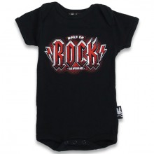 Born to rock Six Bunnies baby romper
