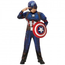 Captain America deluxe kostuum kind