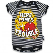 Here comes trouble Six Bunnies romper
